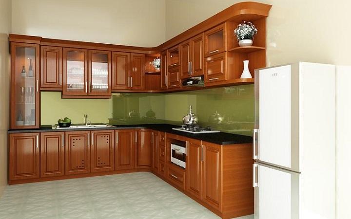 Tủ bếp được làm bằng gỗ gì?